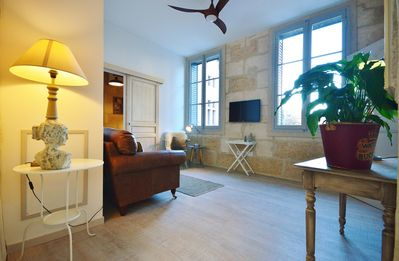 Photo for First floor apartment in parisien style townhouse, facing the Ducal palace