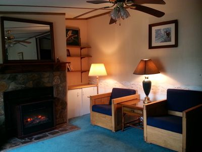 Photo for Private clear blue lake, 1.5 ac , ping pong table, paddleboat , 2 kayaks , Wi Fi