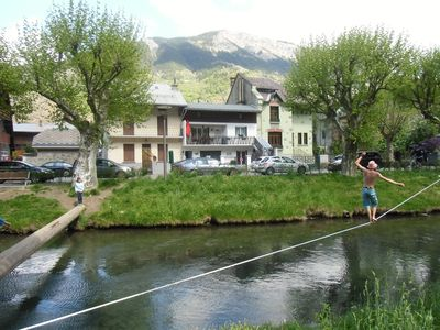 Photo for Apartment with closed bicycle storage and WIFI - Bourg D'oisans Center