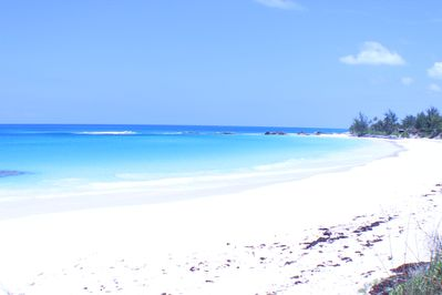 This beach is 3 minutes walk away down a deeded beach path. Photo looking south.