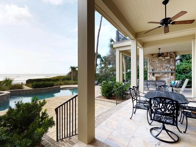 Photo for Private spa, pool, and ocean views, don't miss this beachfront home!