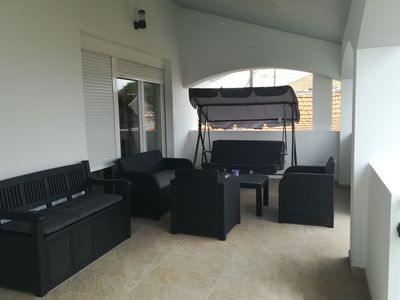 Photo for Modern apartment with big roofed terrace,  garden, sun shower, 200m from the sea