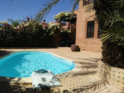 Photo for Nestled in the heart of the mythical palm grove of Marrakech, in a beautiful natural park dotted
