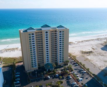 Photo for Wonderful views of gulf from the balcony of this 5th floor, gulf front condo!