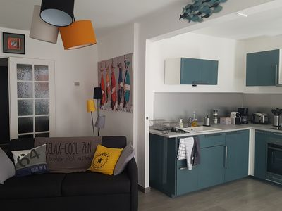 Photo for Apartment 54 m2 heart of town, quiet, near the train station, the canal and shops