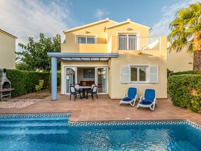 Photo for No need to hire a car at this modern villa close to the lively resort & beach of Cala Blanca