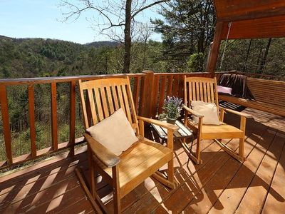 Photo for Secluded Cabin perfect for couples minutes to Pigeon Forge