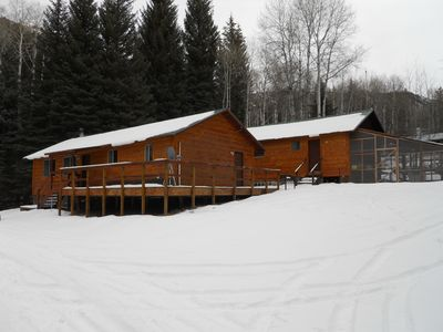 Photo for Family and Group Friendly Lodge in a private and majestic creekside setting