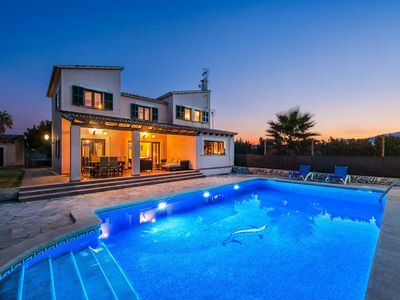 Photo for Can Roca - This spacious villa includes a private pool & has WI-FI