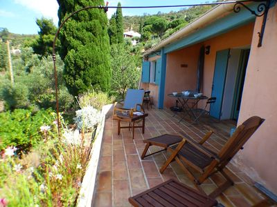Photo for CHARMING HOUSE ON THE HEIGHTS OF BORMES LES MIMOSAS. QUIET LOCATION