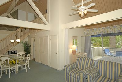 Oversized studio with loft allows for the comforts of home at the beach!