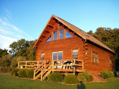 Photo for A Beautiful, Fully Furnished Log Cabin Overlooking Keuka Lake