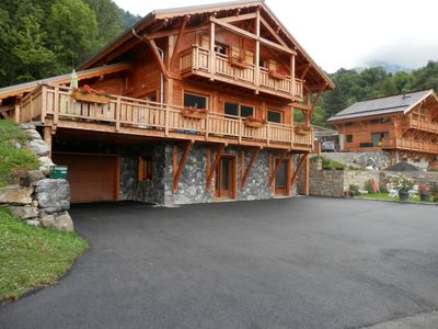 Photo for LOCATION F2 QUIET AND COMFORTABLE GROUND FLOOR WOODEN CHALET NEW