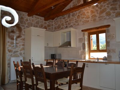 Photo for Solid stone villa , with private swimming pool, dramatic mountain and sea views
