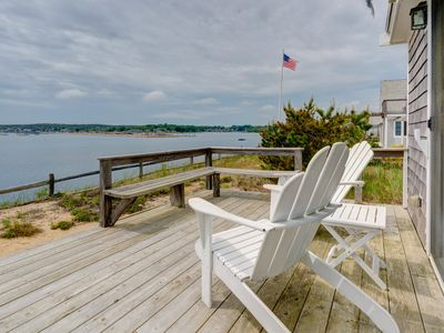 Photo for NEW LISTING! Waterfront home w/deck, patio, bay views & direct beach access!