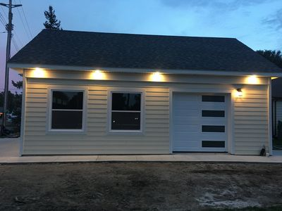 EAST ELEVATION OF NEW GARAGE