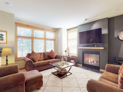 Photo for NEW LISTING! Condo with free WiFi, grill, gas fireplace and close to ski runs!