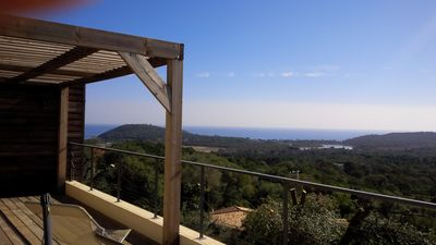 Photo for 180m2 villa full sea view, pool 1500 m from the beach