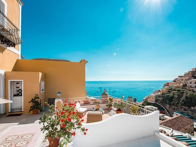 Photo for Villa Idra: A charming and bright two-story villa in the heart of Positano, with Free WI-FI.