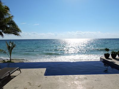 Photo for Casa Moskito, Oceanfront, Beautiful New Villa at Playa Del Carmen, Tax included