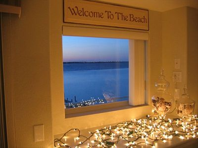 Beautiful view of the bay from our picture window!