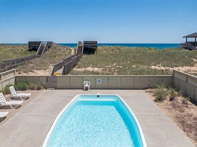 Photo for Beach Happy: Oceanfront 14 bedroom, private walkway, pool and hot tub. Two rec rooms.
