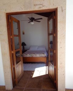 master bedroom, opens to the terrace