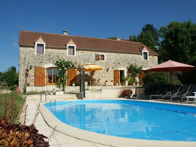 Photo for Atmospheric holiday home near Thédirac with private swimming pool