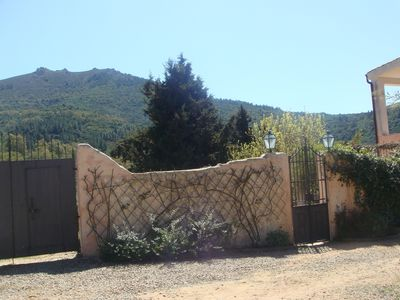 entrance to the fenced property (2.5 acres)