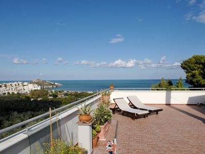 Photo for Stunning penthouse terrace breathtaking vistamare