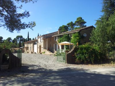 Photo for Gite near Carcassonne, Aude. Newly renovated gite in private domain. Beautiful, rural setting close to local amenities, pleasure lakes and beaches.