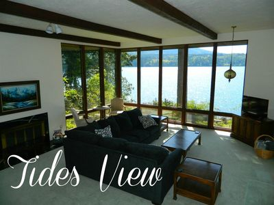 Photo for New Listing! Tides View, Waterfront home with private beach