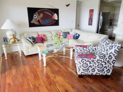 Photo for Spacious and elegant condo  with gorgeous ocean/golf views