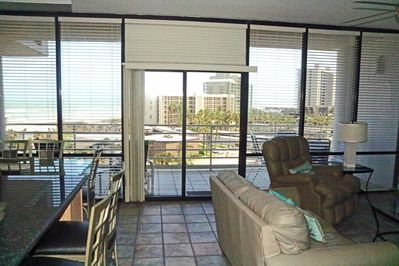 Beautiful view of the Gulf as you enter the living room.