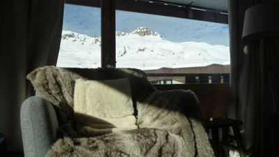 Photo for Warm - 55m2 - 2 bedrooms - superb view - ski-in ski-out -