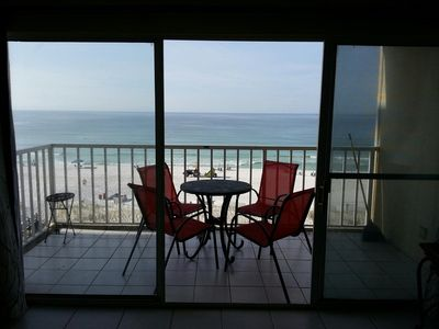 Enjoy the large patio and breath-taking sixth floor view!