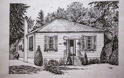 Niagara on the Lake: Sketch of the Cottage