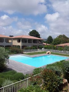 Photo for Residence largest f2 type of standing with swimming pool, 800m from the beach