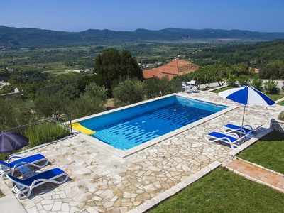 Photo for 2 BED APARTMENT WITH BEAUTIFUL PRIVATE POOL IN LJUTA, NR. GRUDA, KONAVLE REGION
