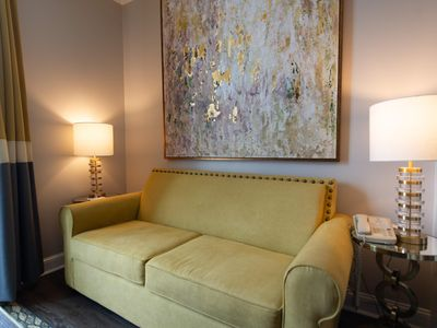 Photo for Luxury 1BR near Golf & Ghost Tours w/ WiFi, Dish Network TV & Courtyard