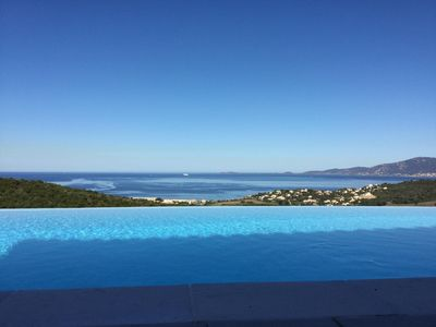 Photo for Superb contemporary villa with panoramic views of the Gulf of Ajaccio.