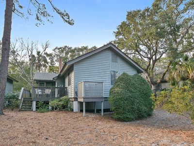 Photo for Dog-friendly home w/ deck, screened porch & woodland views - 225 yards to beach!