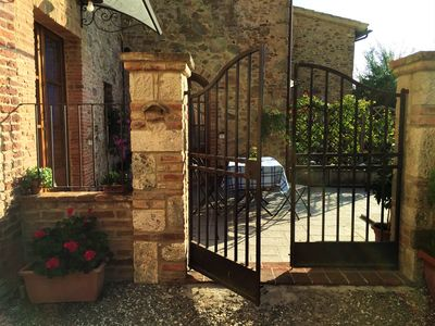 Photo for Typical Tuscan residence in an ancient village just outside Siena