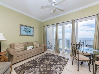 Photo for Welcoming 15th-floor, gulf-front condo! Free beach chairs! Free Wi-Fi. Gulf-front pool on-site!