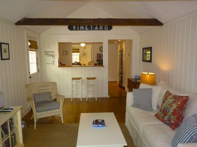 Photo for Edgartown Cottage- Walk to Village & Shops | Outdoor shower, grill, linens incl!