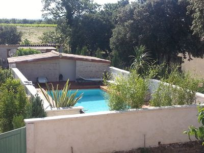 Photo for Appart-Gîte Bouchet 4 pers 20km Vaison-Romaine private swimming pool