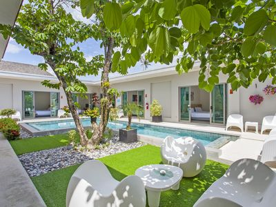 Photo for ⭐Modern Getaway Villa 6BR Sleeps 12 w/Private Pool
