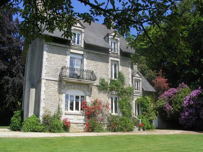 Photo for Holiday Villa With Views Of The Lake And Town Of Huelgoat, Brittany in France.