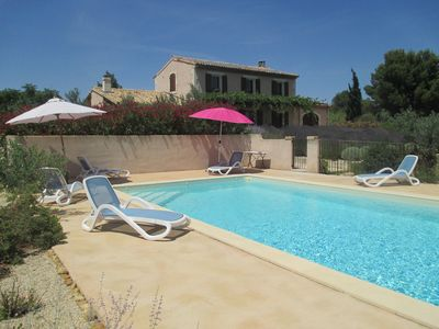 Photo for A holiday rental quiet, very flowery, with a view of the Alpilles