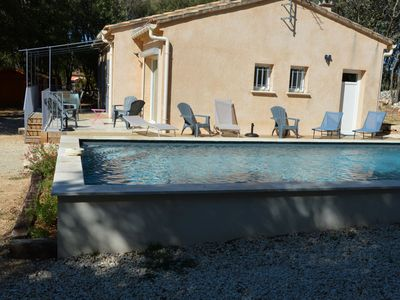 Photo for South Ardèche Air-conditioned house with swimming pool, enclosed land of 2000m2